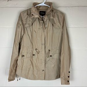 cole haan anorak rain jacket gold medium